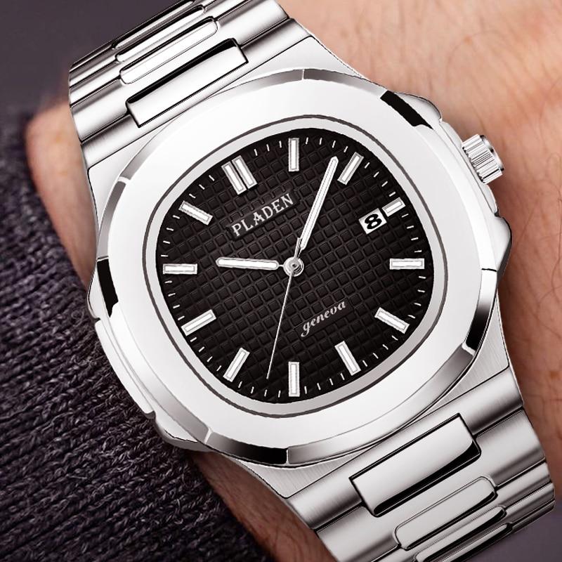 Classic Patek Men watch Luxury Top Brand Watch Fashion Black Male Watch Stainless Steel Nautilus Quartz Wristwatch Patek 5711