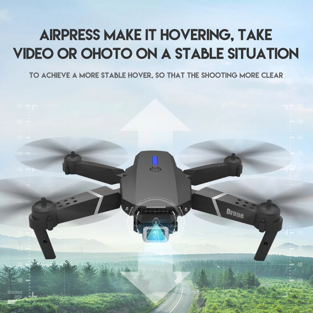 LSRC 2020 New Quadcopter Drone E525 HD 4K 1080P Camera And WiFi FPV Height Maintaining RC Foldable Quadcopter Drone Gift Toy 4