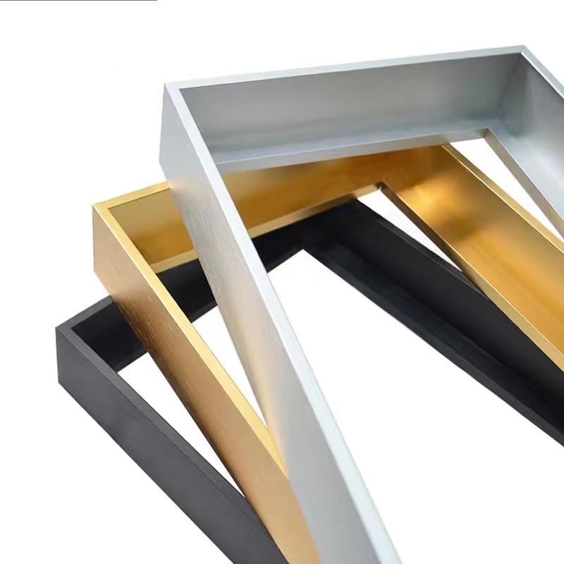 תמונה מסגרת מתכת פוסטר מסגרת קלאסי אלומיניום מסגרות תמונה עבור קיר אמנות תפאורה אינו מורכב מסגרת אין זכוכית שמן ציור מסגרת