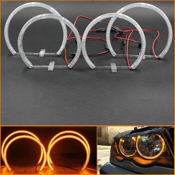 Rockeybright 131mm+146mm 60SMD LED Angel eyes for BMW e46 Non-projector Car led headlight halo rings kit SMD led Angel Eyes