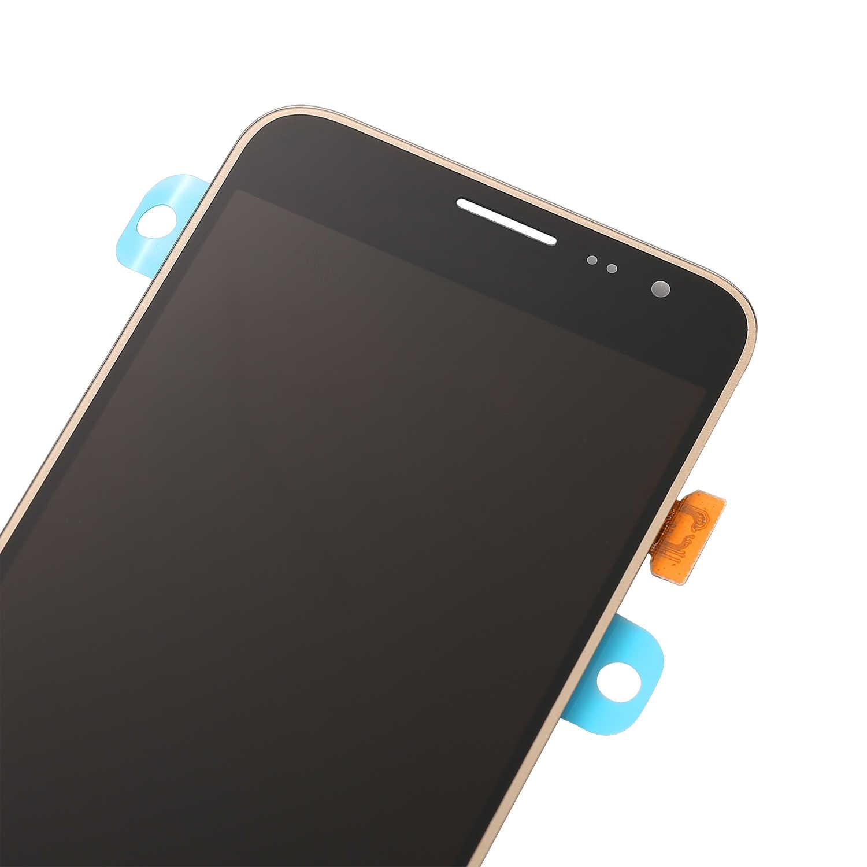 لسامسونج غالاكسي J3 2016 سوبر Amoled LCD J320 J320A J320F J320P J320M J320FN شاشة الكريستال السائل مجموعة رقمنة اللمس