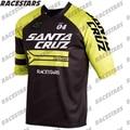 Горный велосипед Santa Cruz, горный велосипед, Джерси с коротким рукавом, быстросохнущий, для внедорожного горного велосипеда DH BMX, дышащая одежд...