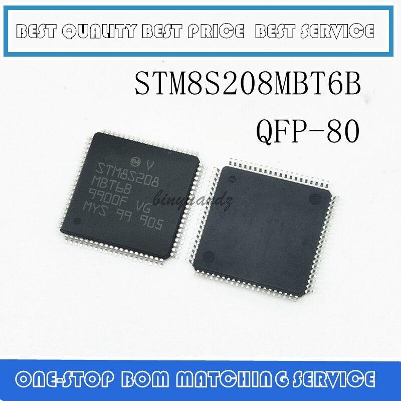 5PCS STM8S208MBT6B STM8S208MBT6 STM8S208 MBT6B QFP-80