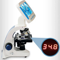2000X Professional Biological Microscope Sperm Observation Livestock Aquaculture Special All in one Microscopio Tool