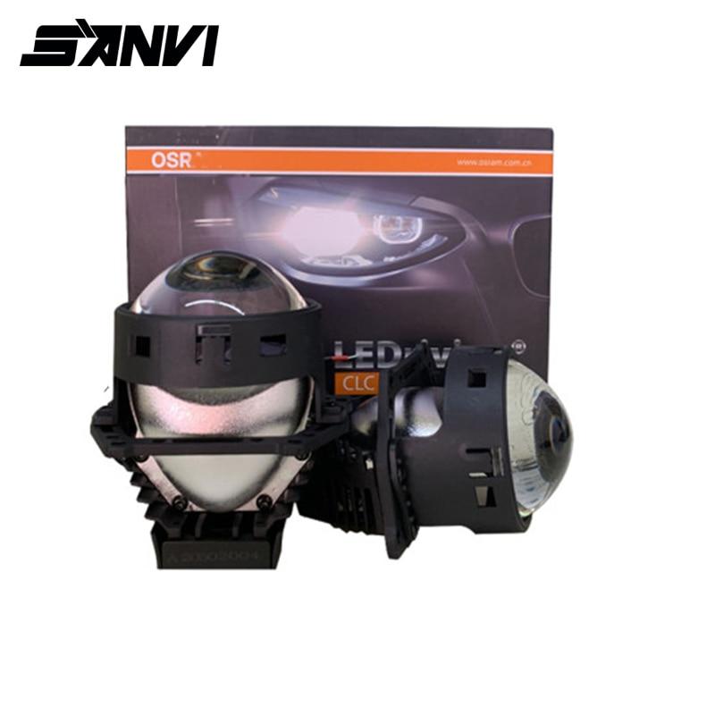 SANVI, Новое поступление, 3 дюйма, 45 Вт, 5500, автомобильный BI светодиодный прожектор, объектив, головной светильник, авто светодиодный налобный фонарь, автомобильный мотоциклетный светильник, наборы для модернизации|Передние LED-фары для авто|   | АлиЭкспресс