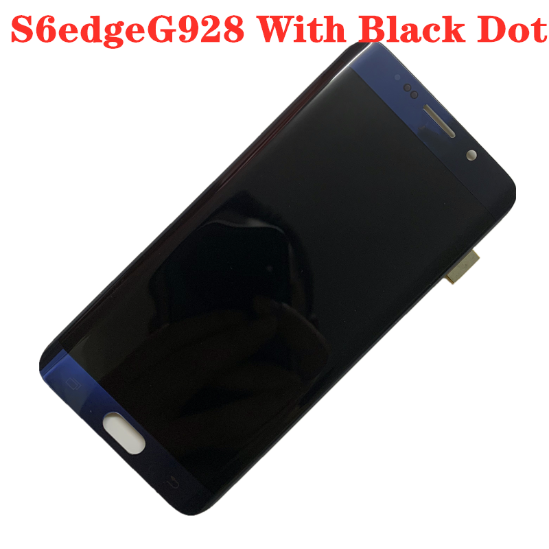 With Black Dot ORIGINAL AMOLED Display LCD  For SAMSUNG S6 Edge PLUS LCD G928U G928D G928F Touch Screen Digitizer Assembly