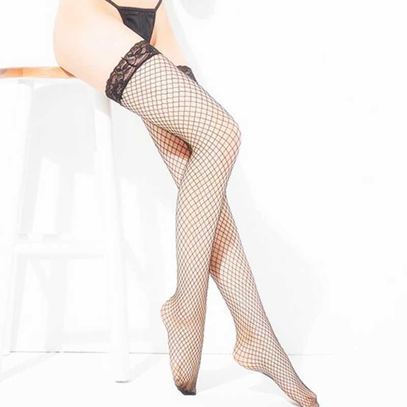 Strakke-Highs Erotische Kousen Sexy Lingerie Visnet Kous Sokken Kousen Over de Knie Sexy Kleding Voor Vrouwen Sex Exotische kleding