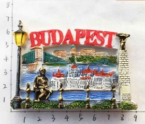 Budapest, Hungary Tourist Souvenirs Fridge Magnet 3D Decorative Refrigerator Magnetic Sticker Home Decor(China)