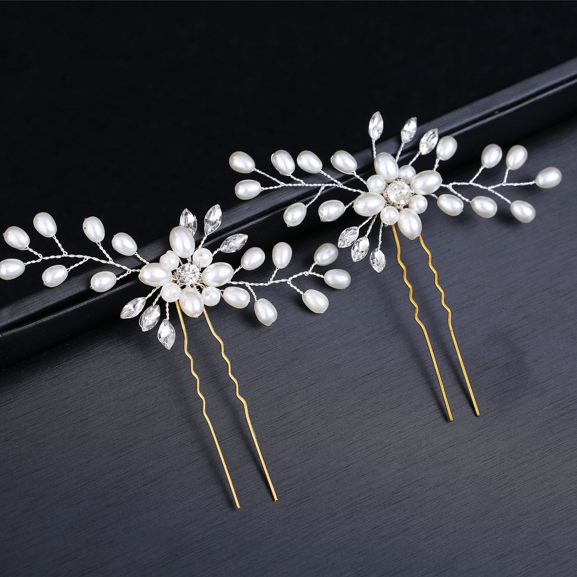 Ebay Cross Border Supply of Goods Korean Style Bride Hairpin Fashion Marriage Ornament Hairpin Bride Wedding Dress Modeling Acce(China)