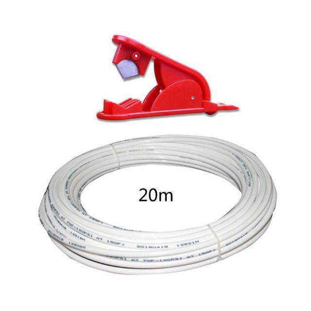 """1/4 """"לבן PE צינור גמיש צינור צינור עבור RO מים מסנן מערכת אקווריום Revers באיכות גבוהה חדש לגמרי"""