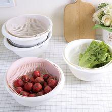 Кухонная корзина для хранения фруктов, многофункциональная двухслойная корзина для фруктов, корзина для чистки Овощей