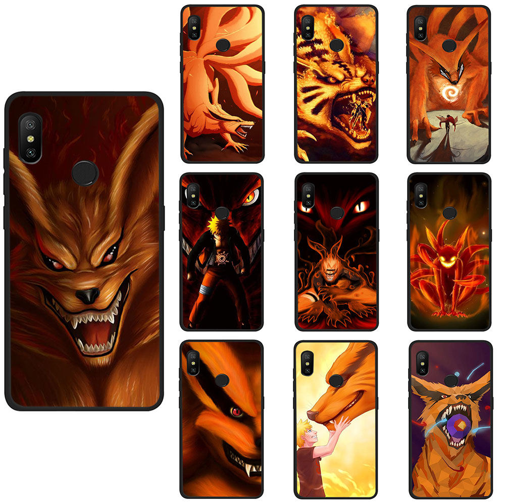 nine tailed fox fangs red eyes naruto Soft TPU Phone Cover for Xiaomi Mi 8 9 SE A2 Lite 6 A1 2s Max 3 F1 9T CC9e A3 pro image