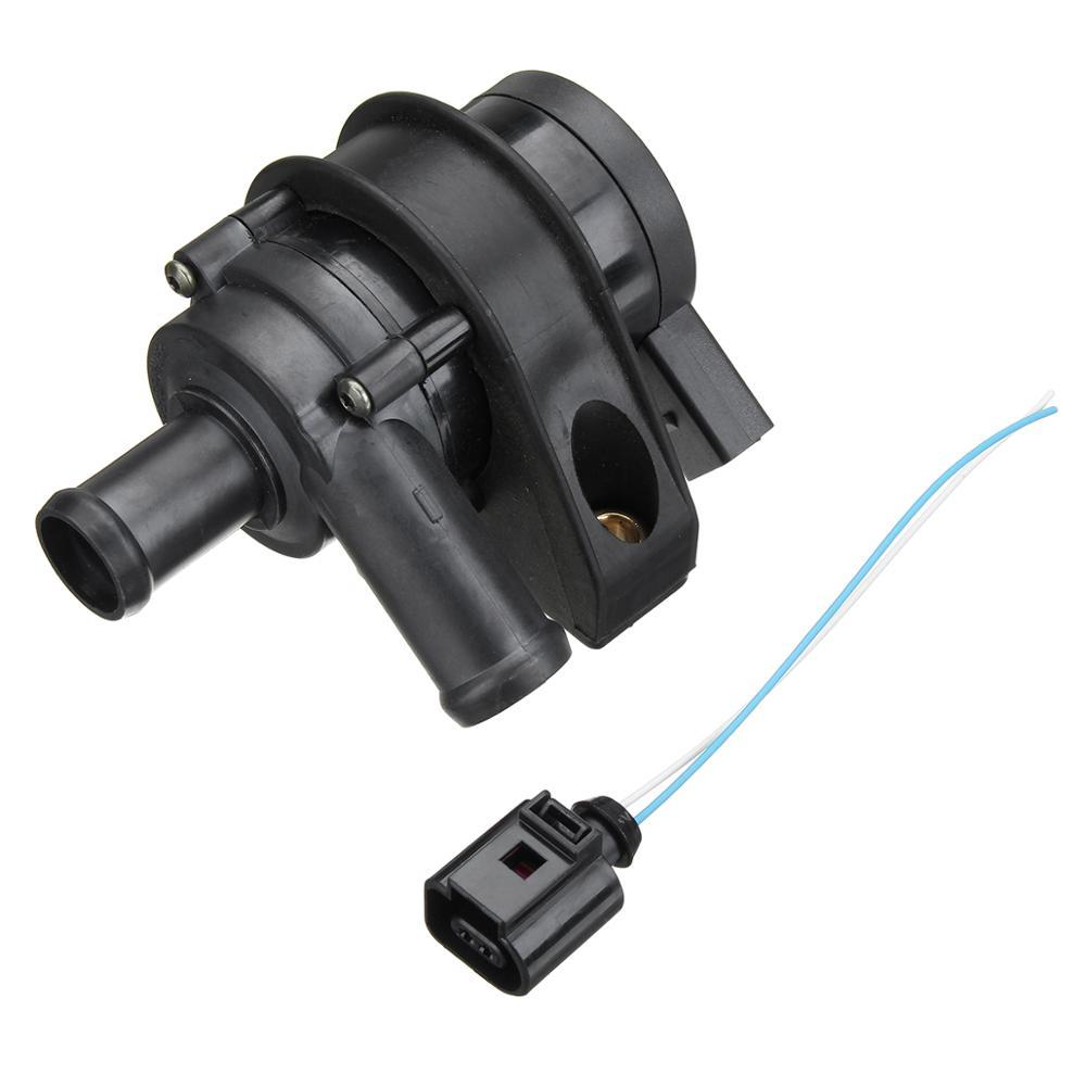Водяной насос для охлаждения двигателя автомобиля, соединительный кабель 1K0965561J 1K0965561G для VW Jetta Golf GTI Passat CC Octavia 1,8 T 2,0 T 12 V - Цвет: Pump with Cable