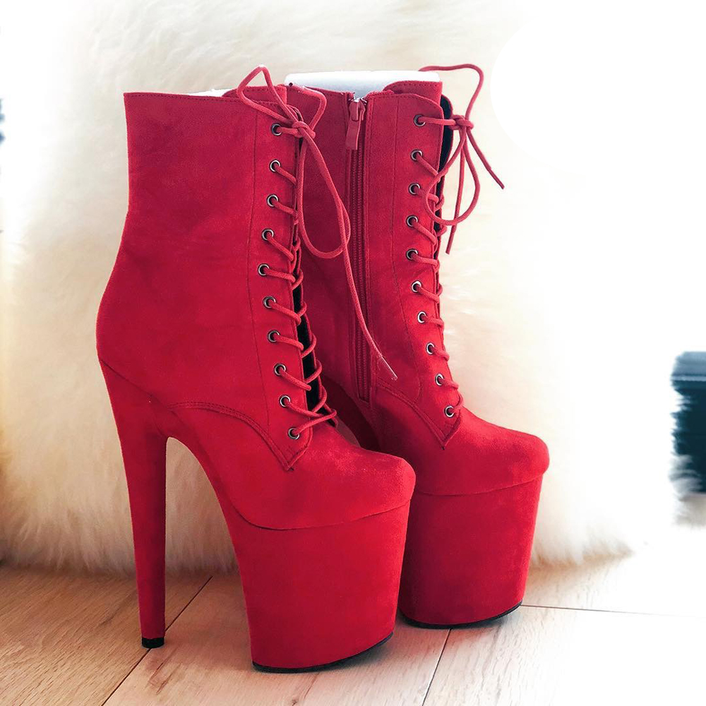 Leecabe Wine Red low Boots <font><b>Extreme</b></font> <font><b>High</b></font> <font><b>Heels</b></font> Devious <font><b>Shoe</b></font> <font><b>Fetish</b></font> <font><b>Heels</b></font> 8 Inch More Colors <font><b>Sexy</b></font> Exotic Pole Dance Booties image