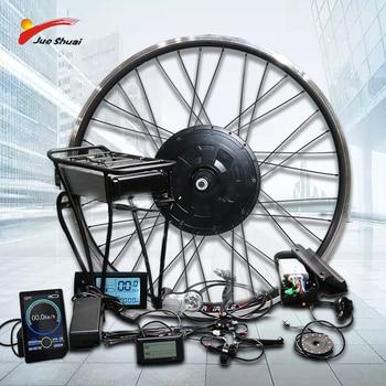 Kit de conversión de bicicleta eléctrica rueda delantera, 500W, 350W, 250W, batería...