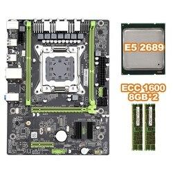 X79 M2 3.0 LGA2011 wsparcie płyty głównej NVME M.2 SSD SATA3.0 SATA2.0 USB3.0 z E5 2689 CPU 2x8G 1600 ECC pamięci
