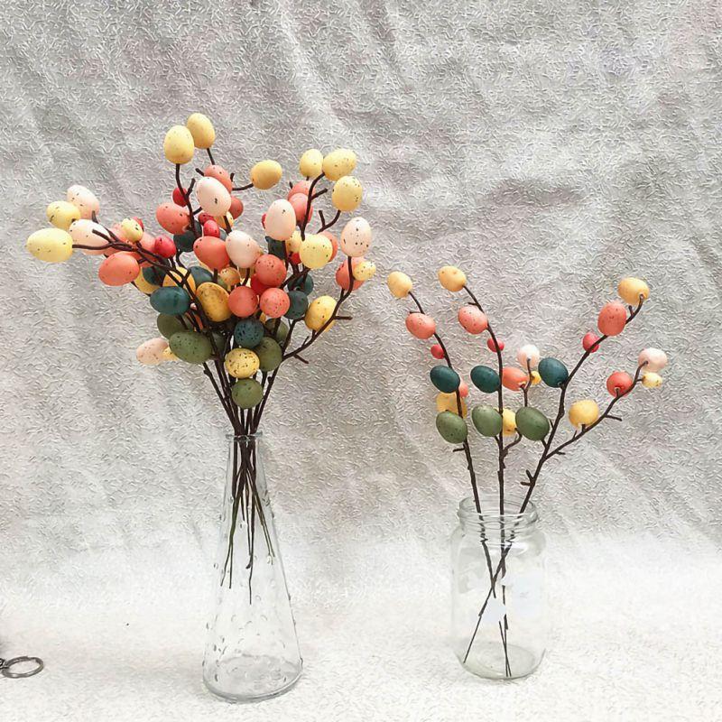 Nouveau créatif oeuf de pâques arbre décor créatif branche avec peinture oeufs pâques oeuf décoration pâques fournitures fête Suplies