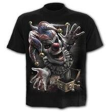 Camiseta con estampado de calavera para hombre, camiseta de Horror, camisetas 3D, camiseta de verano, camisa de cuello redondo, ropa de moda en 3D 2021 XXS-6XL