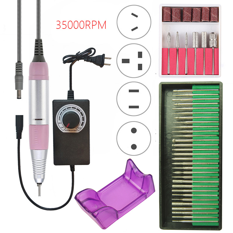 35000 RPM Professional Electric Nail Drill Machine Kit Manicure Machine Pen Pedicure Strong Nail File Portable Nail Art Tool Set