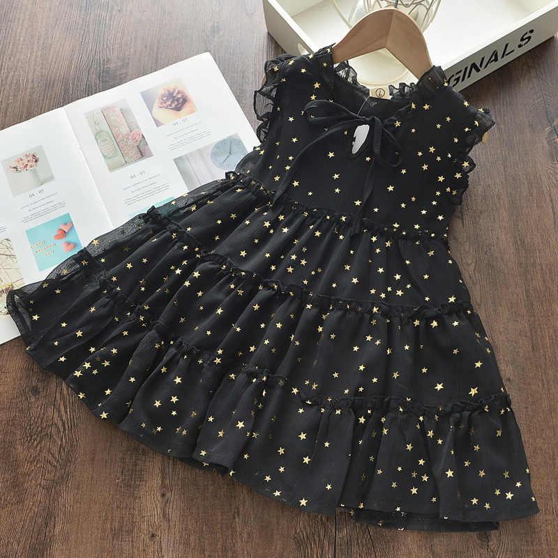 Menoea女の子のウェディングドレス 2020 夏のファッションガール子供パーティードレス星空スパンコール衣装子供王女の服