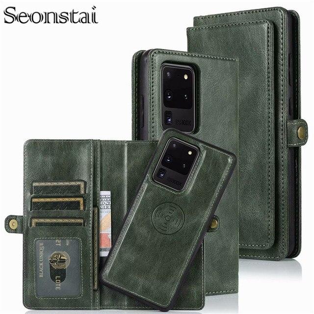 Detachable Flip Leather Wallet Case For Samsung Galaxy S8 S9 S10 E S20 Ultra Note 8 9 10 Plus A10 A20 A30 A40 A50 s A70 A51 A71