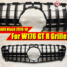 For MercedesMB W176 Front grille Grill GTS Style ABS Black without sign A class A180 A200 A250 A45 A45AMG look grills 2016-2018