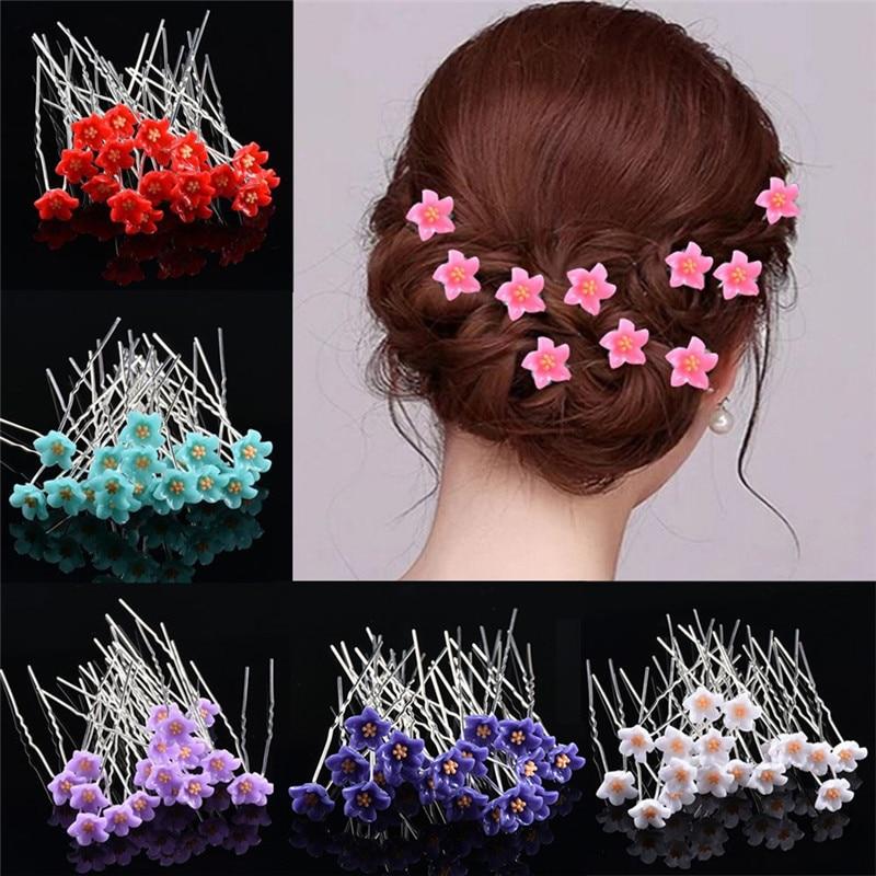 10Pc/Lot Women Bridal Wedding Crystal Diamante Flower Rose Hairpin Clip Barrettes Sticks Hair Braider Styling Tools Accessories|Hair Clips & Pins| - AliExpress