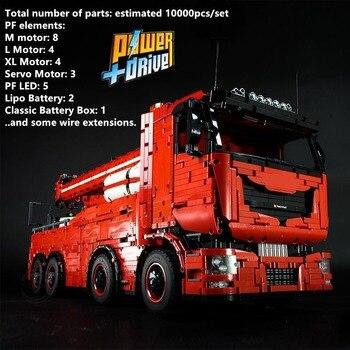 2019 New MOC RC Motor Power Functions Tow Truck MKII Fit LeGINGlys Technic MOC-29848 Kits Building Blocks Bricks Diy Toy Gift