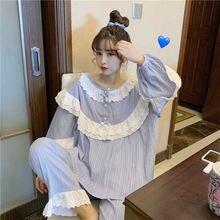 Xifer свободные пижамные комплекты для женщин одежда сна Корейская