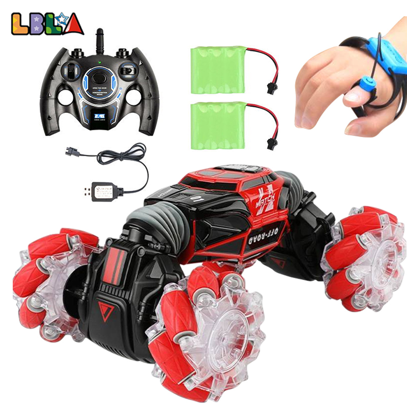 LBLA 1:16 4WD Gesture Induction Remote Control Stunt <font><b>RC</b></font> Car Twisting Off-Road Vehicle Light Music <font><b>Drift</b></font> Dancing Driving Toy image
