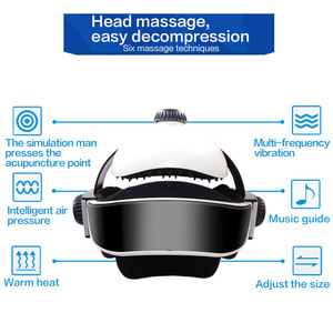 Image 3 - Electric Head Massager Brain Massage Helmet With Music Adjustable Head Size Instrument Household Head Massage Relaxation Device