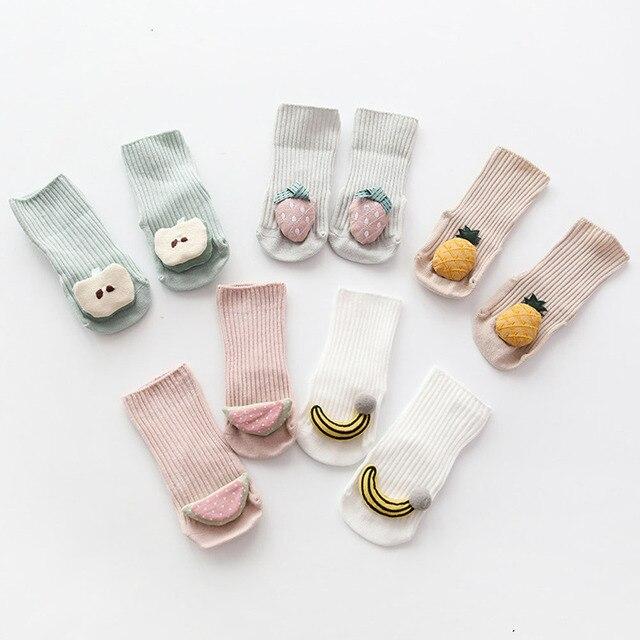 Cotton Baby Socks Cartoon Fruit Newborn Socks Anti Slip Floor Socks Autumn Winter Socks for Children Baby Boy Girl Infant Socks 2