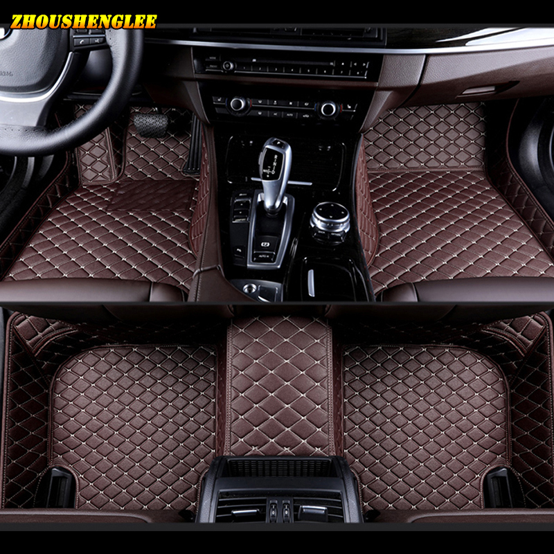 Custom car floor mats for Volkswagen All Models vw passat polo golf <font><b>tiguan</b></font> jetta touran touareg EOS car styling auto floor mats image