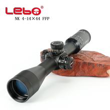 Tactial LEBO 4-14X44FFP Hunting Riflescope With Red Dot First Focal Plane Optics Lens With 11 or 20MM Mount Black Rifle Scope vector optics rogue 2 6x32 aoe hunting riflescope with 25mm mount ring sunshade flipup cap
