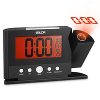 Rotatable Digital Wall Projection Clock with Large Screen Display Date Time Temperature Excellent LCD Alarm Clock