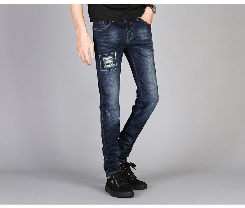 KSTUN Mens Jeans Famous Brand Blue Stretch Distressed Frayed Hiphop Streetwear 2019 Autumn RIpped Jeans Man Casaul Pants Homme 14