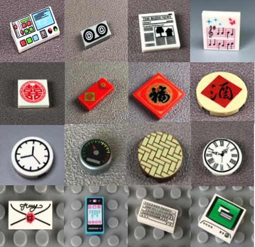 10 шт./лот DIY печатная плитка строительные блоки Компьютер ТВ Музыка телефон часы буквы детские игрушки подарки