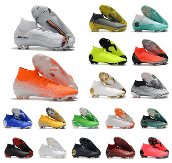 Cheap Superfly VI 360 Elite FG KJ 6 XII 12 CR7 Ronaldo Neymar Mens Women Boys High ankle Soccer Shoes Football Boots Cleats US6. puma powercat 1 12 sl firm ground fg mens soccer cleats