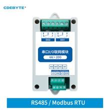 Modbus RTU Control I/O Network Modules Serial Port RS485 Interface 4DI+2DO CDEBYTE MA01-AXCX4020 Rail Installation 8~28VDC IoT