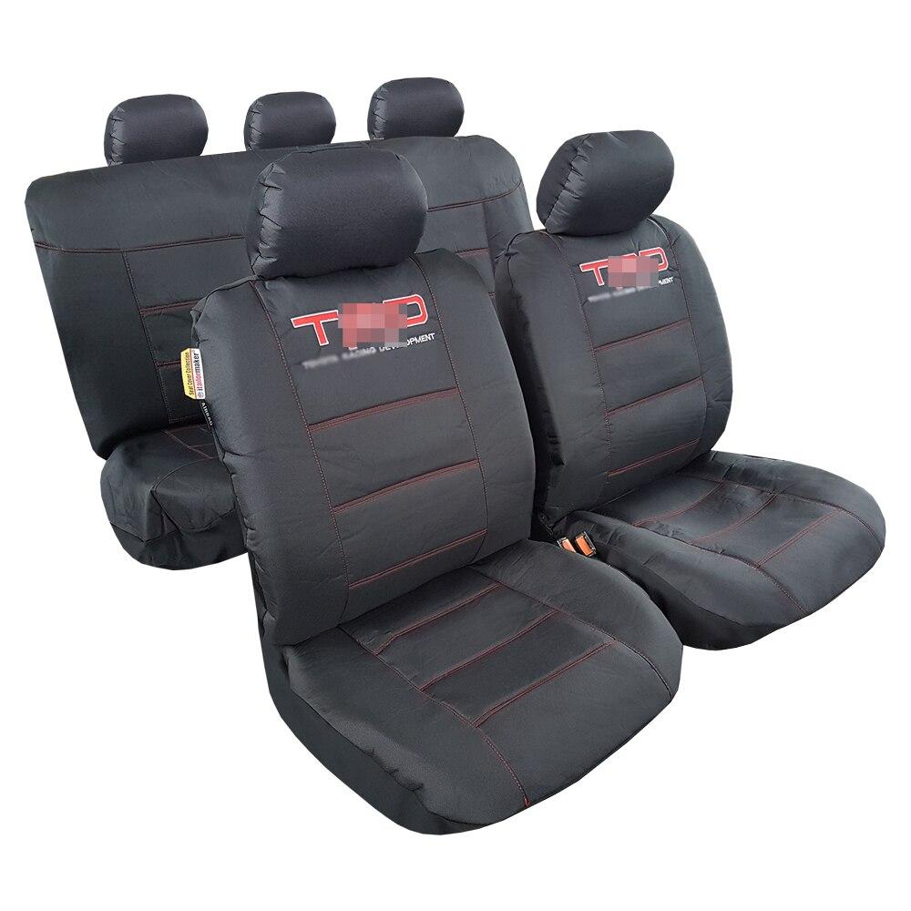Чехлы на сиденья для Tacoma Canvas 2010, водонепроницаемые защитные чехлы для автомобиля, грузовика, внедорожника, тяжелый черный Оксфордский полны...
