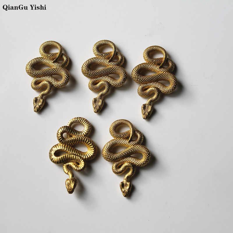 ทองเหลืองขนาดใหญ่ Pythons Key จี้ Creative PURE ทองแดงงูแหวน Charms DIY พวงกุญแจรถ Key ผู้ถือเครื่องประดับ