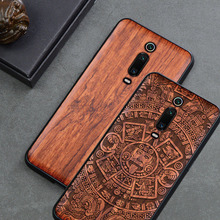 For Xiaomi mi 9t Case Boogic Wood funda Redmi k20 Pro Rosewood TPU Shockproof Back Cover Phone Shell Xiaomi Mi 9T Pro case