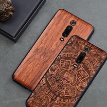 Pour Xiao mi mi 9t étui Boogic bois funda rouge mi k20 Pro palissandre coque arrière antichoc coque de téléphone Xiao mi mi 9T Pro