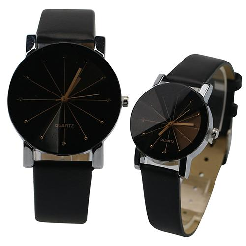 Luxury Brand Watches Set Couple Watch Men And Ladies Fashion Alloy Faux Leather Wrist Watch Leather Strap Clock Couple Watches