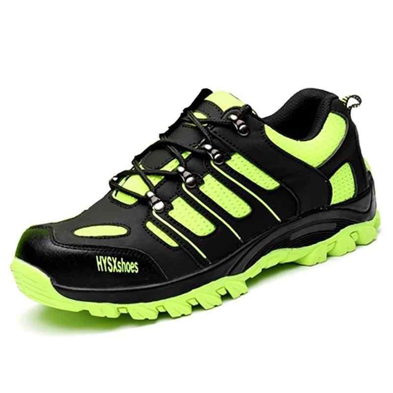 Rahat ayakkabılar erkekler kadınlar iş çizmeleri koruyucu ayakkabı hava mesh çelik burun iş güvenliği ayakkabıları