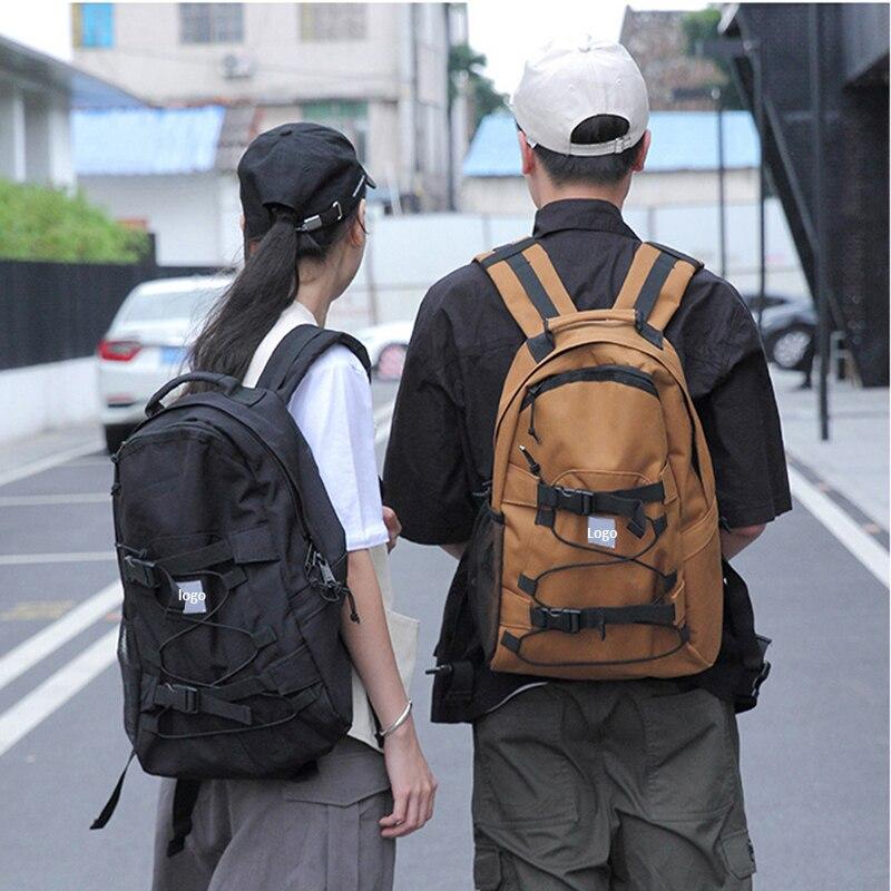 Adults Men Women Skateboard Backpack Skating Accessories Double Rocker Skate Board Bag Oxford Large Capacity Longboard Backpack
