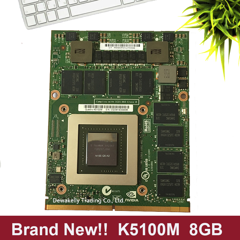 Brand New K5100M K5100 8G N15E-Q5-A2 CN-034P9D 034P9D Graphic Card For DELL M6700 M6800 HP 8770W ZBOOK15 G1 G2 Fully Tested
