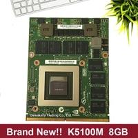 Brand New K5100M K5100 8G N15E Q5 A2 CN 034P9D 034P9D karta graficzna dla DELL M6700 M6800 HP 8770W ZBOOK15 G1 G2 W pełni przetestowane w Płyty główne do laptopów od Komputer i biuro na