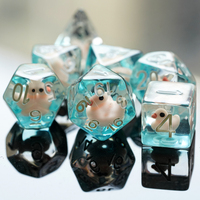 7Pcs/set Duck DND Dice D&D Dice D4 D6 D8 D10 D% D12 D20 Polyhedral Games Dice Set for Table Games MTG RPG