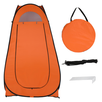 1-2 Person Portable Pop Up Toilet Shower Tent Changing Room Dressing Tent Camping Shelter Orange Portable Privacy Shower Toilet outdoor bathing tent pop up privacy tent instant portable shower tent camp toilet rain shelter for camping and beach